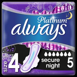 Always Platinum Ultra Secure Night Σερβιέτες Νο4 5τμχ