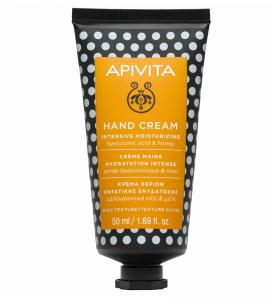 Apivita Hand Cream Κρέμα Χεριών Εντατικής Ενυδάτωσης με Υαλουρονικό Οξύ και Μέλι 50ml