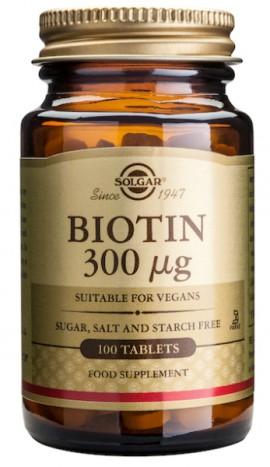SOLGAR BIOTIN 300MCG 100TAB