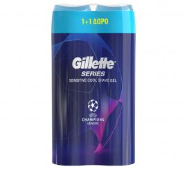 Gillette Series Sensitive Cool Shave Gel 2 X 250ml