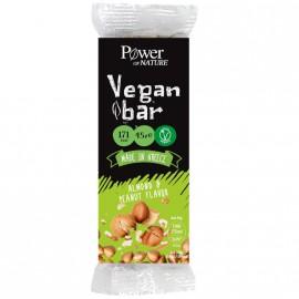 Power Health Power of Nature Vegan Bar με Γεύση αμύγδαλο και φυστίκι 45gr