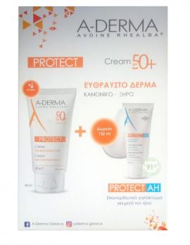 Aderma Protect Cream SPF50+ 40ml + ΔΩΡΟ Protect AH Repairing Lotion 100ml