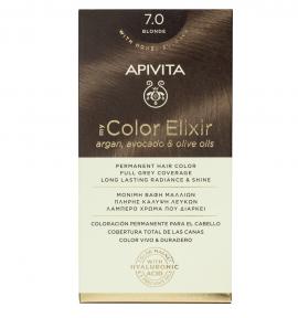 Apivita My Color Elixir kit Μόνιμη Βαφή Μαλλιών 7.0 ΞΑΝΘΟ