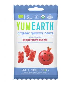 Yumearth Organic Gummy Bears Βιολογικά Ζελεδάκια από Ρόδι 50gr