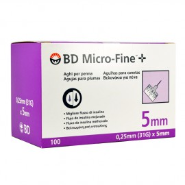 BD Micro-Fine+ 31G (0,25 x 5 mm) 100τμχ