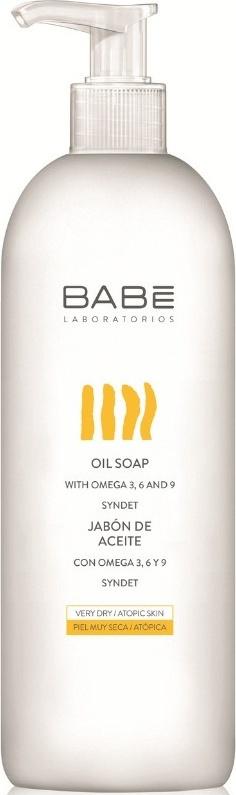 Babe Body Oil Soap Αφρόλουτρο Εμπλουτισμένο με Έλαια για Ξηρό/Ατοπικό Δέρμα 500ml Eκπτωση -20%
