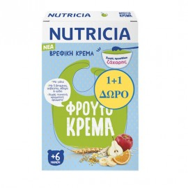 Nutricia Βρεφική Κρέμα Φρουτόκρεμα 250gr 1+1 ΔΩΡΟ