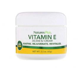 Natures Plus Vitamin E Cream 30000IU Moisturizing Cream Vitamin E for Daily Use 63gr