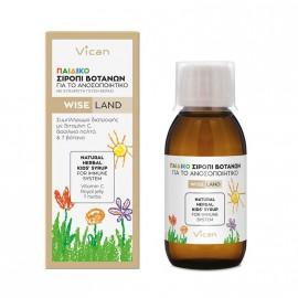 Vican Wise Land Παιδικό Σιρόπι Βοτάνων για το Ανοσοποιητικό 120ml