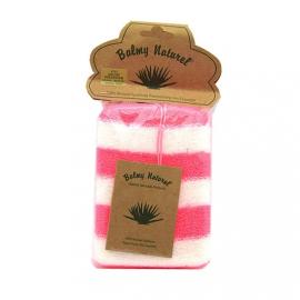 Vican Balmy Naturel Polyester Sponge Σφουγγάρι Μπάνιου Άσπρο-Ροζ 1τμχ