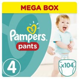 PAMPERS Mega Pants No.4 (9-15Kg) 104 Πάνες