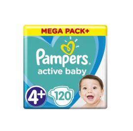 Pampers Active Baby Mega Pack No.4+ (10-15kg) 120Πάνες