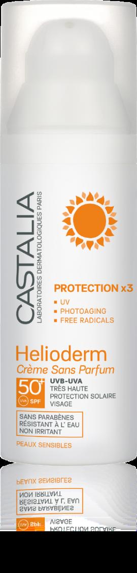 Castalia Helioderm Creme Sans Parfum Protection x3 SPF50 Αντιηλιακή Κρέμα Προσώπου Χωρίς Άρωμα 50ml