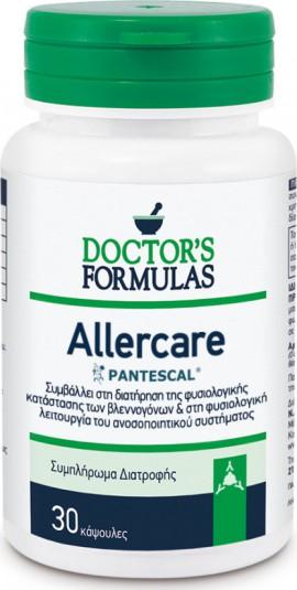 Doctors Formulas Allercare Φόρμουλα για τη Φυσιολογική Λειτουργία του Βλεννογόνου & του Ανοσοποιητικού 30 κάψουλες