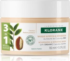 Klorane Nourishing & Repairing Mask with Organic Cupuacu Butter Μάσκα Θρέψης για Πολύ Ξηρά Μαλλιά με Βούτυρο Κουπουασού, 150ml