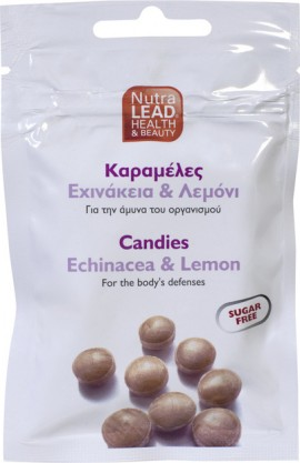 Nutralead καραμέλες με manuka,πρόπολη + βιταμίνη C(Γέυση Λεμόνι) 40g.