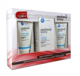 Medisei Panthenol Extra Σετ Περιποιήσης Body Cream 100ml & Feet Cream 60ml & Hand Cream 75ml