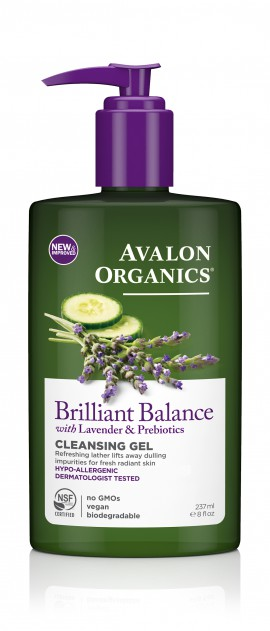 Avalon Organics Brilliant Balance Cleansing Gel with Lavender & Prebiotics 237ml