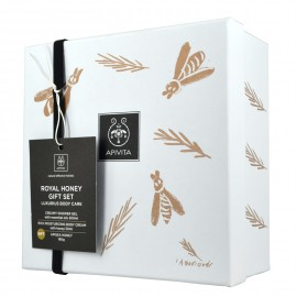 Apivita Royal Honey Gift Set: Creamy Shower Gel Αφρόλουτρο με Αιθέρια Έλαια 300ml & Rich Moisturizing Κρέμα Σώματος με Μέλι 50ml & ΔΩΡΟ Apigea Μέλι 160gr