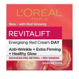 LOreal Paris Revitalift Energising Red Day Cream With Red Ginseng 50ml