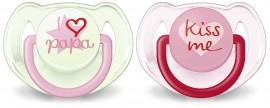 AVENT Oρθοδοντική Πιπίλα Σιλικόνης 6-18 μηνών Girl 2τμχ SCF172/72