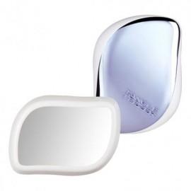 Tangle Teezer Detangling Hairbrush with Mirror 2 in 1 Βούρτσα Μαλλιών με Καθρέφτη Άσπρο/Μπλε 1τμχ