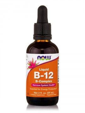 Now Foods Liquid B-12, B-Complex 59ml