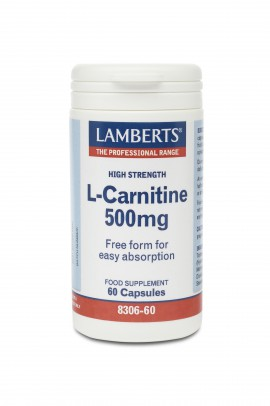 LAMBERTS L-CARNITINE 500MG NEW HIGHER STRENGTH 60CAPS