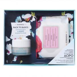 Korres Promo Back to Basics Άνθη Αμυγδαλιάς Κρέμα Ενυδάτωσης για Λιπαρές - Μικτές Επιδερμίδες 40ml + Δώρο Korres Μαντηλάκια με Ρόδι για Καθαρισμό και Ντεμακιγιάζ 25τμχ