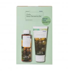 Korres Fruity Body Pampering Set Αμπέλι Σαντορίνης Αφρόλουτρο 250ml + Αμπέλι Σαντορίνης Ενυδατικό Γαλάκτωμα Σώματος 125ml