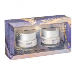 Panthenol Extra Set Night Cream Αντιγηραντική Ενυδατική Κρέμα Προσώπου Νύχτας 2x50ml