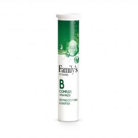 Familys Vitamins B Complex + Magnesium 20 Αναβράζοντα Δισκία