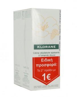 Klorane Creme Depilatoire Apaisante Αποτριχωτική Κρέμα για Ευαίσθητες Περιοχές PROMO ΤΟ 2ο ΠΡΟΪΟΝ 1€, 2 x 75ml