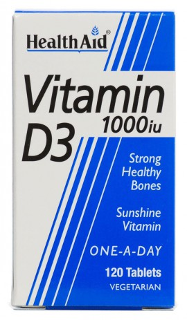 Health Aid βιταμίνη D3 1000iu, 120 Ταμπλέτες