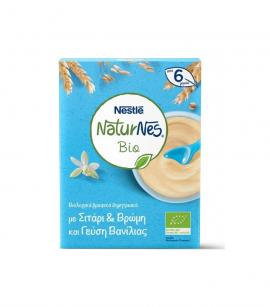 Nestle Naturnes Bio Βιολογικά Βρεφικά Δημητριακά με Σιτάρι & Βρώμη και Γεύση Βανίλιας από 6 Μηνών 200gr
