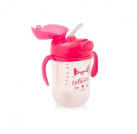 Dr. Browns Κύπελλο με εύπλαστο καλαμάκι 270 ml κορίτσι