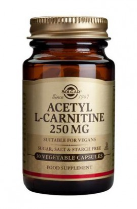 SOLGAR ACETYL L-CARNITINE 250MG 30VCAP