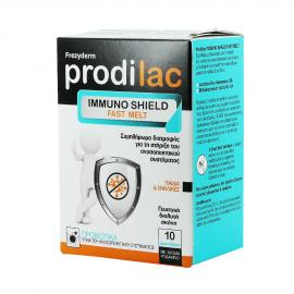 Frezyderm Prodilac Immuno Shield Fast Melt Συμπλήρωμα Διατροφής με Άρωμα Ροδάκινο 10 Φακελάκια.