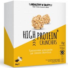 Power Health Healthy & Tasty High Protein Crunchers, Τραγανές μπουκιές με γεύση βανίλια 24gr