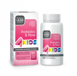 PharmaLead 4Kids Probiotics & Fibre με Γεύση Φράουλα 60τμχ