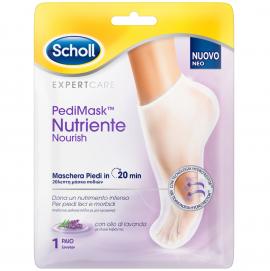 Scholl PediMask Nutriente Nourish Μάσκα Ποδιών με Λάδι Λεβάντας 1 ζευγάρι
