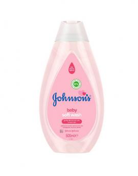 Johnsons Baby Soft Pink Wash 500ml