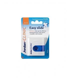 Jordan Clinic Easy Slide Fluoride + Mint Flavour Οδοντικό Νήμα 30m