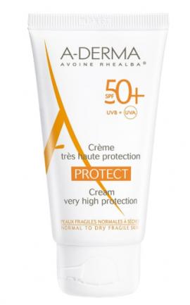 ADerma Protect Cream SPF50+ Αντηλιακή Προσώπου με Άρωμα 40ml