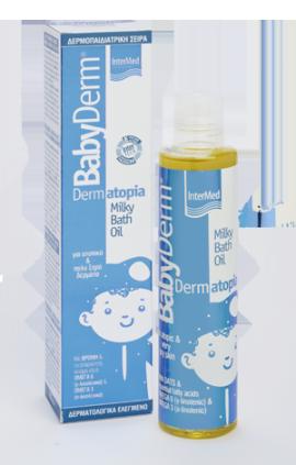 Intermed Babyderm Dermatopia Milky Bath Oil 200ml