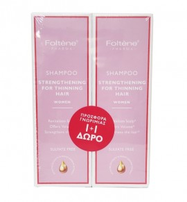 Foltene Shampoo Thinning Hair Women Δυναμωτικό Σαμπουάν Κατά της Γυναικείας Τριχόπτωσης 200ml 1+1 Δώρο
