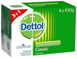 Dettol Soap Classic 3+1 Δώρο 4X100gr