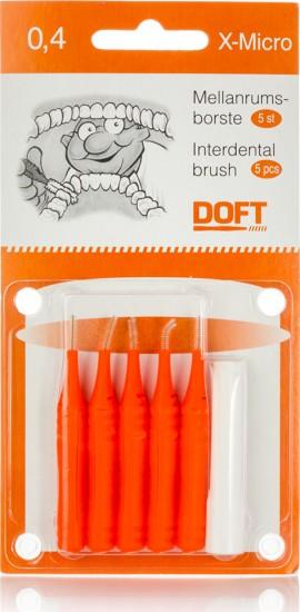 Doft Interdental Brush X-Micro Μεσοδόντια Βουρτσάκια 0,4mm 5τμχ