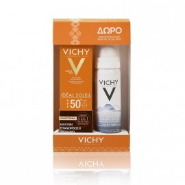 Vichy Set Ideal Soleil Anti Spot SPF50+ 50ml & Eau Thermale Spring Water 50ml