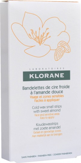 Klorane Cold Wax Small Strips with Sweet Almond, 6 διπλές ταινίες